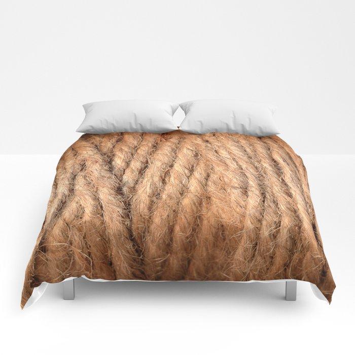 Brown Yarn Threads Comforters
