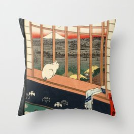 Asakusa ricefields and torinomachi festival Throw Pillow