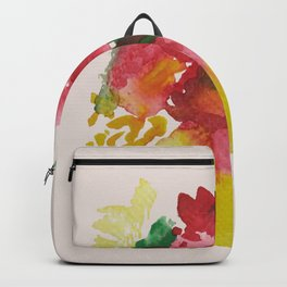 Yellow Vase Red Bouquet Backpack