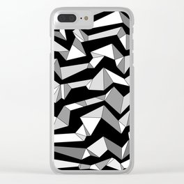 Polynoise Lowpoly Clear iPhone Case