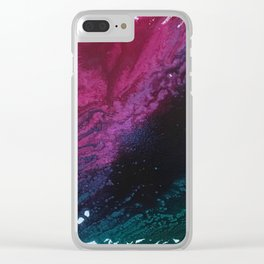 Floral Dreams Abstract Clear iPhone Case
