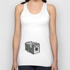 Kodak Box Brownie Camera Illustration Unisex Tank Top