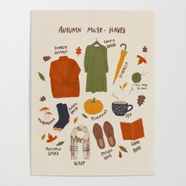 Autumn must-haves Poster