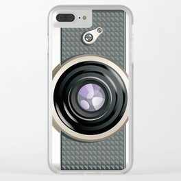 Vintage Toy Camera Clear iPhone Case