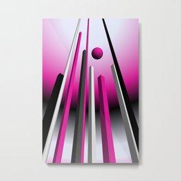 go pink -18- Metal Print