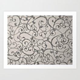 Glitter Swirl Art Print