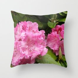 Rhododendron After Rain Throw Pillow