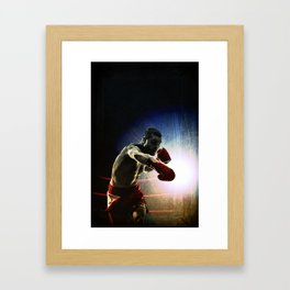 Olympic game boxe Framed Art Print