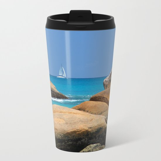 Sea Seychelles Metal Travel Mug
