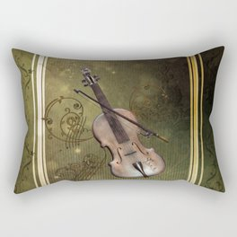 Wonderful violin with clef and key notes Rectangular Pillow