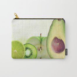 Fresh Green fruits watercolor painting Carry-All Pouch