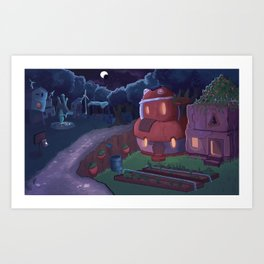 Small Colony Town Art Print