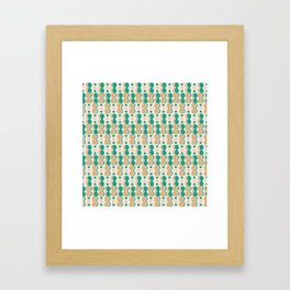 Uende Cactus - Geometric and bold retro shapes Framed Art Print