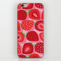 strawberry iPhone & iPod Skins featuring Strawberry by Helene Michau