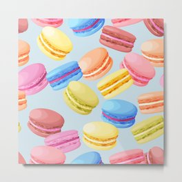Watercolor Macaroons Metal Print