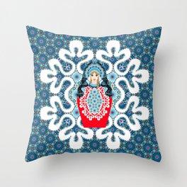 Little Matryoshka Throw Pillow