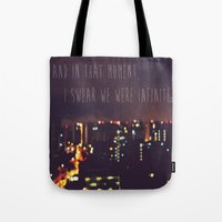 the perks of being a wallflower Tote Bags featuring PERKS OF BEING A WALLFLOWER  by Sjaefashion