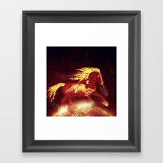 Fire Horse Framed Art Print