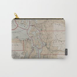 Vintage Map of The Puget Sound (1899) Carry-All Pouch
