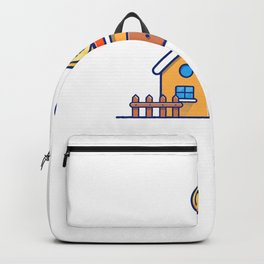 House with gold coins money 1 Backpack