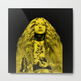 Millais Bridesmaid in Yellow Metal Print