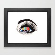 tv eye Framed Art Print