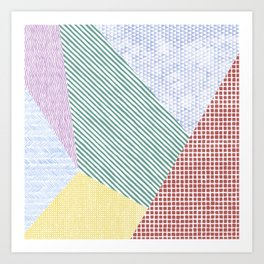 Chalk Patterns Art Print