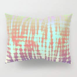 Fluorescent lines & Stripes Tie Die Textile Design Pillow Sham