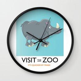 Visit the Zoo Rhino Wall Clock