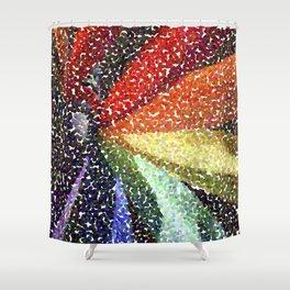 Pinwheel Seurat I Shower Curtain