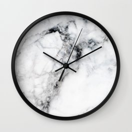 Arctic White Marble Wall Clock