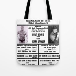 #13 Memphis Wrestling Window Card Tote Bag