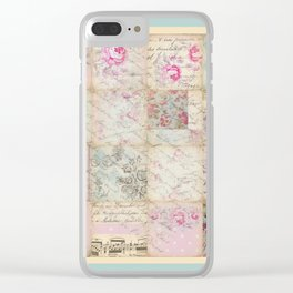 Shabby Chic 1 Clear iPhone Case