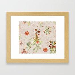 Carnivorous Floral Framed Art Print
