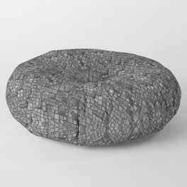 Abstract and faux crocodile skin .Texture Dark gray . Floor Pillow
