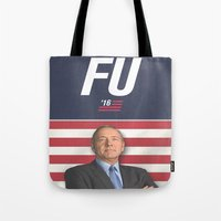 house of cards Tote Bags featuring House of Cards / Campaign Poster I by Earl of Grey