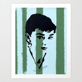 Audrey 7 Art Print