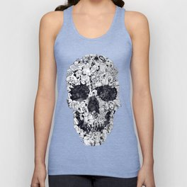 Doodle Skull BW Unisex Tank Top