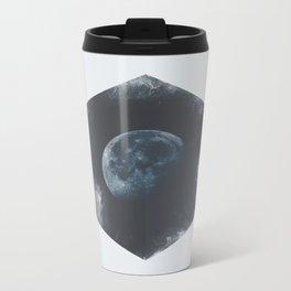 Minimalist Travel Poster - Moon Metal Travel Mug