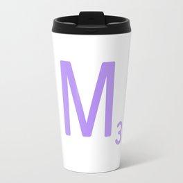Purple Letter M Scrabble Monogram Travel Mug