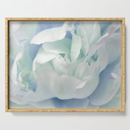 Peony in Blue White Serving Tray
