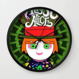 THE HATTER MAD / Almost Alice - Tim Barton - Wonderland / digital ilustration - wall decor - pop art Wall Clock