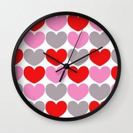 Valentine Pattern Wall Clock