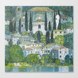 Gustav Klimt - Church in Cassone Canvas Print