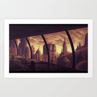 Negavian sunset Art Print