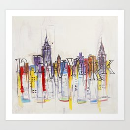 Abstract New York Art Print