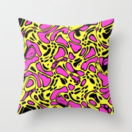 Splotchy Blob Throw Pillow