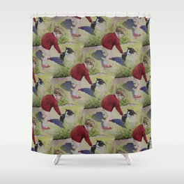 Penny Lives With Jesus Shower Curtain