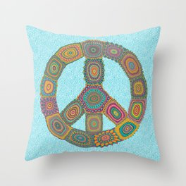 Peace is Groovy Throw Pillow