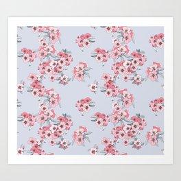 Apple blossom pattern Art Print